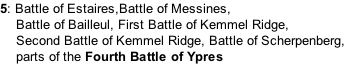 5: Battle of Estaires,Battle of Messines,